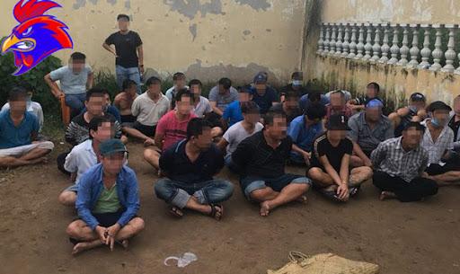 Nhiều người bị bắt quả tang tham gia đánh bạc tại sới gà
